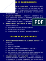 Clause 49 Corporate Governance
