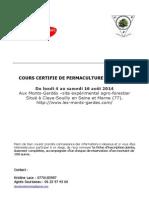 Dossier d'Inscription CCP 4-16 Août