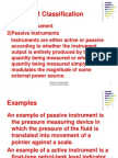 5 Instrument Classification