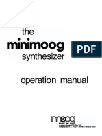 Minimoog Operation Manual 1