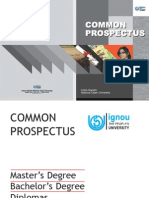 IGNOU Prospectus and Application Form 2014 July Session