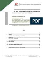 Norma Para Procedimentos de Entrega e Recebimento de Obras 09.04.14