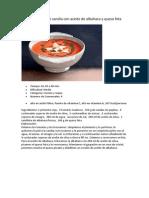 Receta Gazpacho de Sandía Con Aceite de Albahaca y Queso Feta