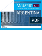 Anuario de Estadísticas Universitarias - Argentina 2011
