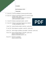Calendar Bac Sesiunea Speciala 2014