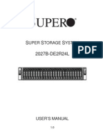 SuperMicro SuperStorage 2027B DE2R24L manual
