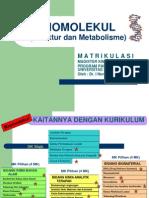 Kimia Organik BIOMOLEKUL Matrikulasi
