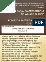 Presentation9- BINAGONG ORTOGRAPIYA -By Divine Grace B. Samortin