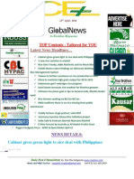 22nd April,2014 Daily Global Rice E-Newsletter by Riceplus Magazine