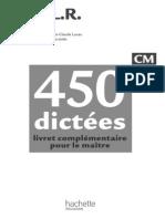 164972283 CM 450 Dictees Livre Du Maitre