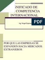 3ra Semana.significado de La Competencia Internacional