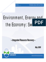 Environment Energy and the Economy Sweden-Presentation to MV Board-2009!06!12