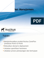 Training instalation and management antena ruckus