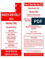 Tyne & Wear May Day 2014