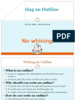 3- writing an outline