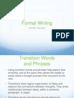 6- formal writing