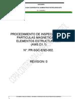 Procedimiento de Inspección y Ensayo Con Partículas Maganéticas Rev00