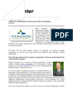 Paragon Laboratories an Interview With President & CEO Jay Kaufman