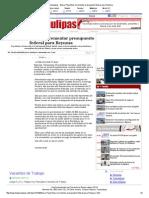 22-04-2014 'Busca Pepe Elías incrementar presupuesto federal para Reynosa'.