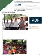 22-04-2014 'Entregan 1.3 Mdp en Oportunidades a Familias de Reynosa'