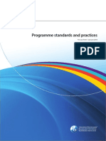2014 Programme Standards and Practices