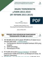 Rancangan Teknokratik Rencana Pembangunan Jangka Menengah Nasional (RT RPJMN) 2015-2019