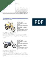 Suzuki DR350 Model History