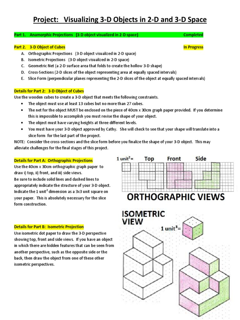 Visualizing 3d Objects Project Details Shape Perspective Graphical