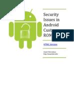Security Issue Custom Rom