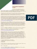 Geodetic Computations