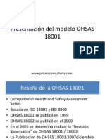 EX25-V1 Presentación Del Modelo OHSAS 18001