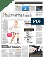Bailarina Amputada Vuelve a La Pista Con Un Tobillo Biónico