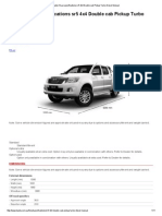 Toyota HiLux Specifications Sr5 4x4 Double Cab Pickup Turbo Diesel Manual