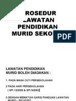Hal Ehwal Murid - Prosedur Lawatan Pendidikan Murid Sekolah