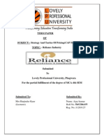 RELIANCE INDUSTRY  .docx