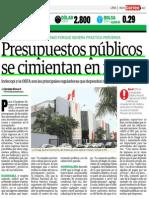 Perú - Presupuestos públicos se cimientan en multas