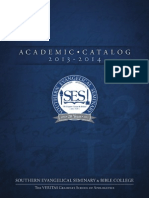 Southern Evangelical Seminary 2013-2014 Academic Catalog