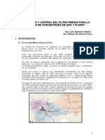 Optimizacion y Control en El Proceso de Filtrado Pb Zn