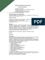 Esquema de Informe Final de Investigación - Anexo 02