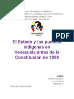14-04-23 El Estado y Los Pueblos Indigenas en Venezuela Antes de La Constitucion de 1999
