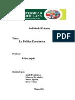 Trabajo Politica Económica en Panamá