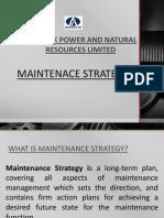 Maintenance Strategy