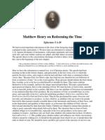 Redeeming the Time - Matthew Henry