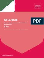A Level Mathematics Syllabus