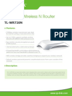 TL-WR720 V1 Datasheet