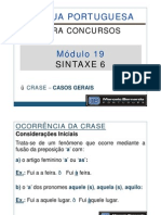 Módulo 19 - Aula 001 - Sintaxe 6 - Crase - Casos Gerais