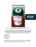 Green Lantern Beanies (Newborn-Adult)