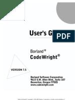 Code Wright Userguide 750