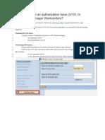 SM Authorization Trace