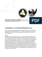Veva Stansell Botanical Area Nomination